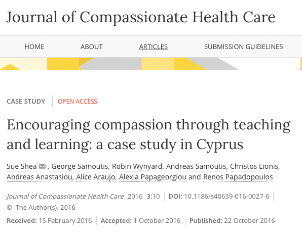 Encouraging compassion through teaching and learning: a case study in Cyprus